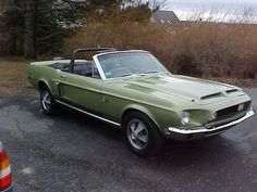 1968 Ford Mustang Shelby Convertible w/ Original Drivetrain and Ford Mustang Shelby Gt, Ford Mustangs, Shelby Gt500, Gt 500, Old Muscle Cars, Super 4, Carroll Shelby, Movie Cars, Car Ford