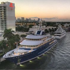 248ft Mega Yacht 'NORTHERN STAR' Dockside in Fort Lauderdale, Florida - @luxury.finest Courtesy of @sweetwaterpete