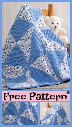 Beautiful Knitted Pinwheel Blanket – Free Pattern #freeknittingpattern #blanket