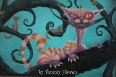 Spooky Cheshire cat painting halloween nightmare by Spookarium, $250.00
