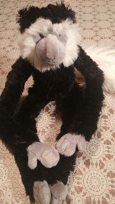 The petting zoo plush monkey black white 21 inches tall #thepettingzoo