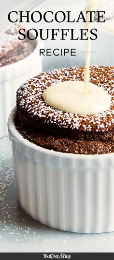 bright orange sauce covers this rich chocolate soufflé from Jacques ...