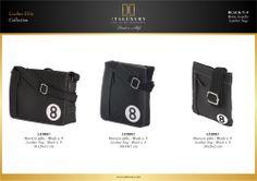 #Borse in #pelle - Black n. 8 / #Leather #bags - Black n. 8 by ITALUXURY | #Luxury Leather Goods & Accessories - Made in Italy. Website: www.italuxury.com