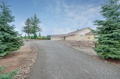 All custom one level home designed and built by Quail Homes of Vancouver Washington.