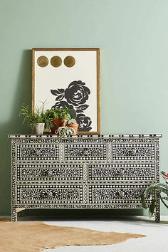 Anthropologie Bone Inlay Three-Drawer Dresser.Anthropologie|anthropologie home|anthropologie bedroom|anthropologie diy|anthropologie wish list *Aff*