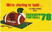 1978 OREGON FOOTBALL-BEST FATHER'S DAY GIFTS 2012. http://oregonfootballgifts.com/ Oregon football gifts made from authentic vintage art.