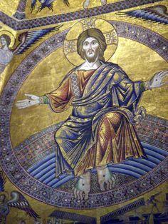 Andrea Tafi o Coppo di Marcovaldo - Cristo giudice - 1260-70 - Mosaico - Battistero di San Giovanni, Firenze