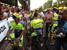 @letour 2014 has covered its final kilometers. We're celebrating on Champs-Élysées #tdf #tinkoff4tdf