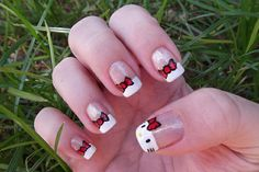 Cute Simple Nail – Try This at Home!: Hello Kity Nail Art  Hipsterwall ~ muslimain.com Hipster Styles Inspiration