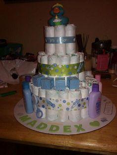 cute baby shower gift idea my friend ashley made! its a boy :)