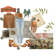 A fashion look from January 2015 featuring white vest, sleeve jacket and denim skinny jeans. Browse and shop related looks. Wild West, Polyvore, Stuff To Buy, Shopping, Collection, Design, Women, Fashion, Moda