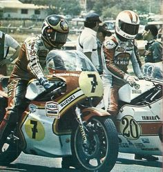 Barry Sheene and Johnny Cecotto