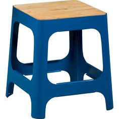 hitch peacock blue stool in chairs, benches   CB2