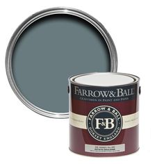 Farrow & Ball Estate De nimes Matt Emulsion paint - B&Q for all your home and garden supplies and advice on all the latest DIY trends Farrow Ball, Gloss Paint, Paint Stain, Inchyra Blue, Pavilion Grey, Elephants Breath, Oval Room Blue, Bedrooms, Colors