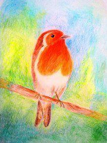 ansichtkaart 19 -roodborstje- brechtje duijzer http://brechtjeduijzer.nl/