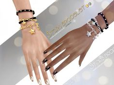 The Sims Resource: Bracelet N03 by S-Club • Sims 4 Downloads
