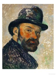 Self-Portrait with Bowler Hat (Sketch), 1885-1886 by Paul Cézanne. Giclee print from Art.com.