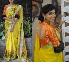 Brocade Blouse Designs, Pattu Saree Blouse Designs, Brocade Blouses, Fancy Blouse Designs, Designer Blouse Patterns, Pattern Blouses For Sarees, Dress Designs, Maggam Work Designs, Sari Design