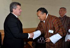 President Ivanov with Prime Minister of Bhutan Jigme Thinley