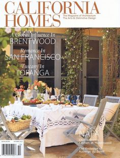 California Homes magazine cover