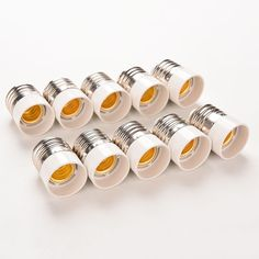 5 Pz/lotto Materiale Ignifugo E27 a E14 Convertitore portalampada Conversione Presa di luce tipo Lampada Base Adapter Nuovo