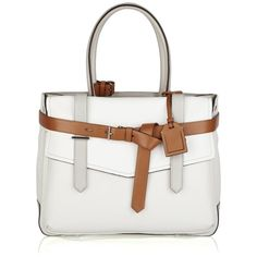 Reed Krakoff Boxer leather-detailed canvas tote ❤ liked on Polyvore
