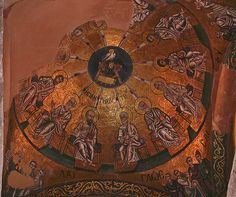 Dome over the sanctuary at Hosios Lukas, c. 1000, Boeotia, Greece.