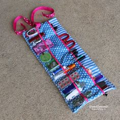 Make It: Roll Up Glove-box Essentials Caddy - Tutorial #sewing