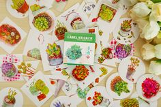 You will receive a box packet of plant stickers (40 pieces).  Each flake is an individual sticker that can be peeled off from its backing.  These stickers are perfect for scrapbooking, gift wrapping, sticking into planners and diaries to mark special occasions, and make perfect gifts for EVERYONE, regardless of age!  I am a sticker collector too, and am very careful that all the stickers that I sell are 101% authentic, free of any printing imperfections, and are 1000% kawaii =)  Please l...