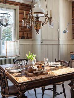 Made In Persbo: Köket jag önskar vore mitt egna Vintage Light Fixtures, Swedish House, Living Styles, Scandinavian Home, Farmhouse Chic, Rustic Interiors, Swedish Interiors, Country Kitchen, Country Living