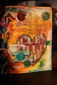 Handmade paper journal on my etsy site