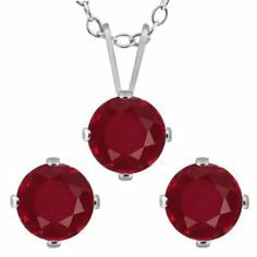 3.15 Ct Round Red Ruby 925 Sterling Silver Pendant Earrings Set Gem Stone King. $199.99 Jewelry Sets, Women Jewelry, Natural Red, Red Garnet, Pendant Earrings, Sterling Silver Pendants, Earring Set, Cufflinks, Gemstones