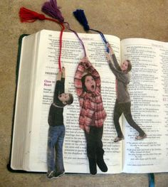 DIY picture bookmarks -Inspired by one of our ideas, reader Heather Humrichouse… More