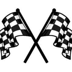 Checkered flag tattoo