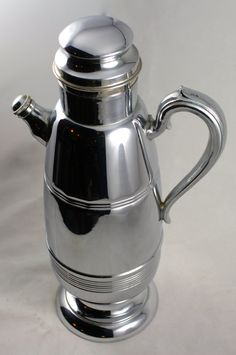 Vintage Art Deco Chrome Cocktail Shaker by LuckySevenVintage, $45.00