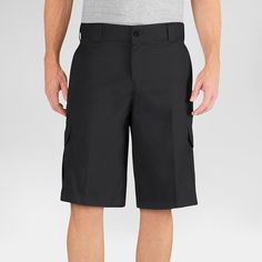 Dickies Men's Big & Tall Relaxed Fit Flex Twill 13 Cargo Short- Black 48
