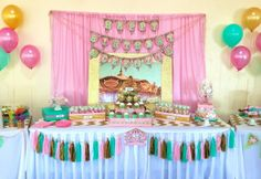 """Photo 12 of 21: Carousel- Pink, Gold and Mint Green / Birthday """"Cupcakes and Carousels"""" 