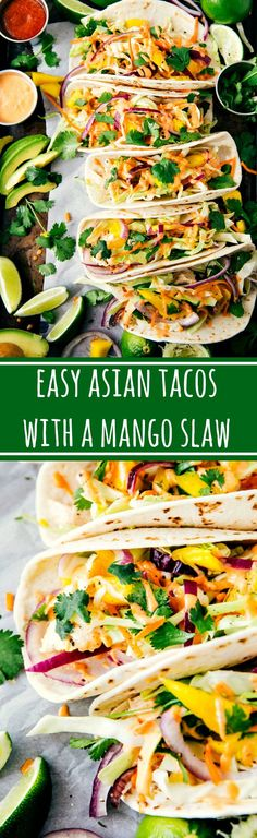 Asian Chicken Tacos With A Mango Slaw