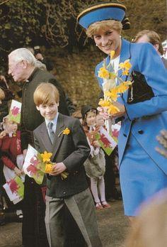 Princess Diana and Prince William - 1991