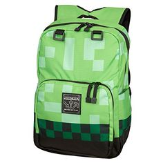 """Minecraft 18"""" Creeper Kids Backpack - Green * You can find out more details at the link of the image. Amazon Affiliate Program's Ads."""