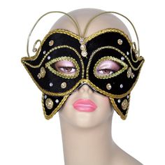 Black Velvet Butterfly Eye Mask Image