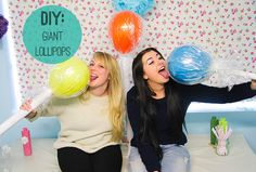 Giant Balloons blow   These giant lollipops are really easy to make and would look amazing ...