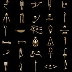 Egyptian hieroglyphics symbols Model available on Turbo Squid, the world's leading provider of digital models for visualization, films, television, and games. Egyptian Symbols, Ancient Symbols, Egyptian Art, Egyptian Hieroglyphs, Ancient Artifacts, Ancient Egypt Art, Ancient Aliens, Ancient Greece, Hieroglyphics Tattoo