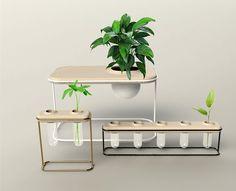 Minimalist Planter Range on Behance Indoor Farming, Smart Garden, Indoor Planters, Grow Lights, Hydroponics, Amazing Gardens, Steel Frame, Centerpieces, Minimalist