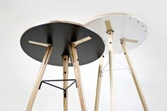 Café Table by Shift Studio, via Behance Loft Furniture, Bamboo Furniture, Iron Furniture, Steel Furniture, Deco Furniture, Furniture Projects, Table Furniture, Furniture Design, Cafe Tables