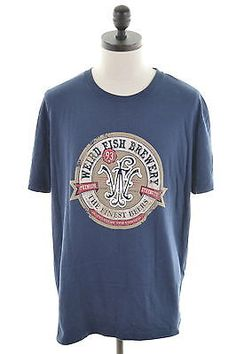 #Weird fish mens #t-shirt top xxl navy blue #cotton,  View more on the LINK: http://www.zeppy.io/product/gb/2/182443260036/