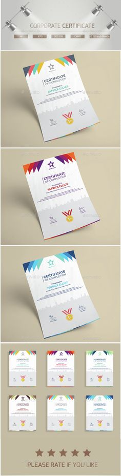 Corporate Certificates Certificate templates, Certificate design - Corporate Certificate Template