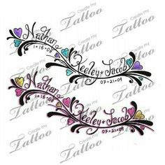 Tatoo for top side of foot Name Tattoos For Moms, Tattoos With Kids Names, Family Tattoos, Tattoos For Daughters, Mom Tattoos, Great Tattoos, Trendy Tattoos, Kid Names, Body Art Tattoos