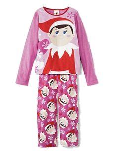 The Elf on the Shelf Girls Pink Fleece Elf on the Shelf Pajamas Holiday Sleepwear Set Fleece Pajamas, Sleepwear Sets, Girls Pajamas, Discount Uggs, Christmas Pajamas, Elf On The Shelf, Shelf Elf, Pj Sets, T Shirts With Sayings