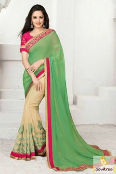 TV actress Shagun special green party wear saree is best to wear on Indian festival and occasion. It is designed with embroidery on saree below part.  http://www.pavitraa.in/store/party-wear-saree/ #partywearsaree, #designersaree, #festivalsaree, #saree, #designerblouse, #onlinesaree, #emboiderysaree, #bollywoodsaree, #discountoffer, #wholesalesaree